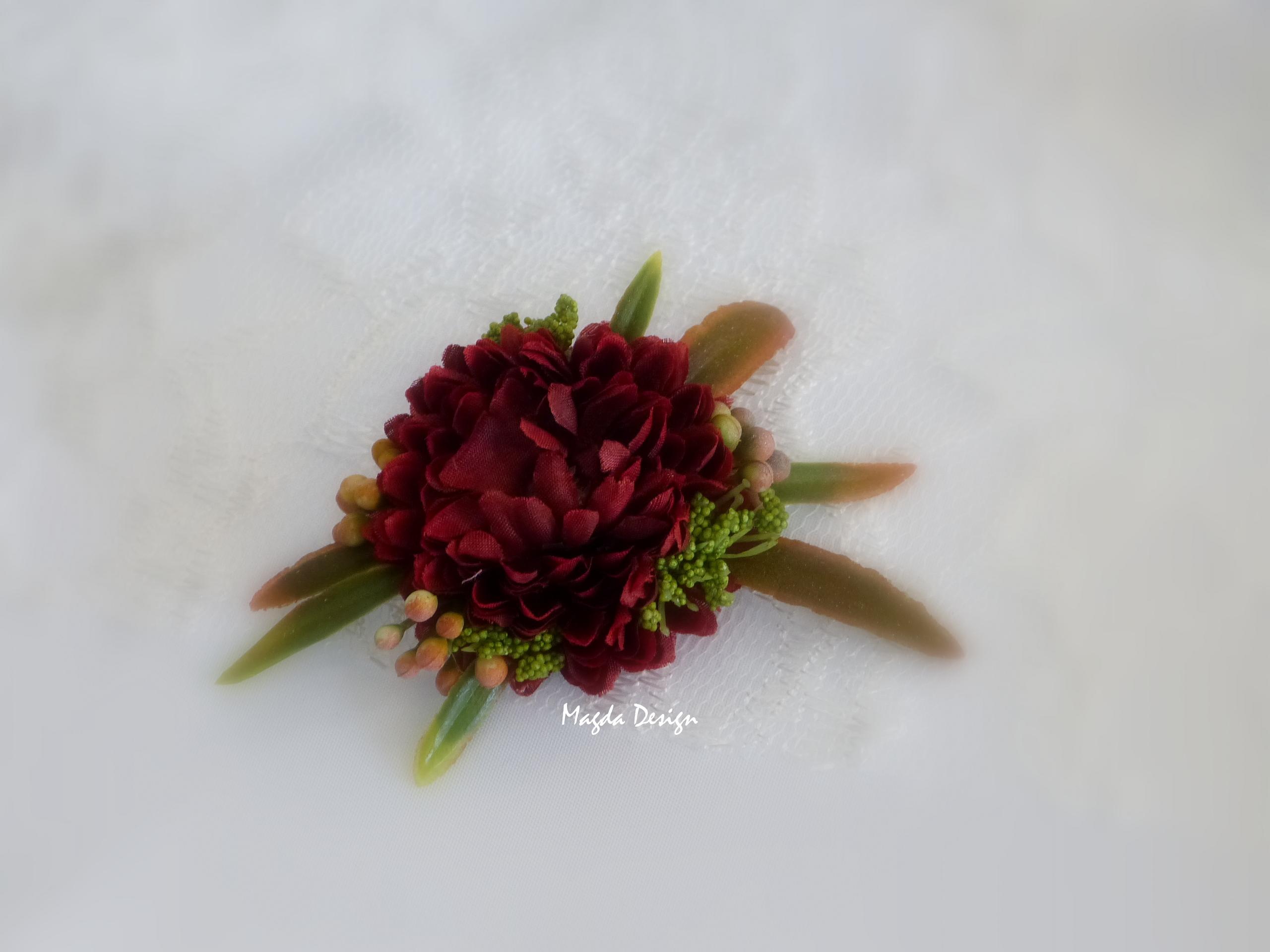 a6bc52a467d Květinová ozdoba brož Sarah 8