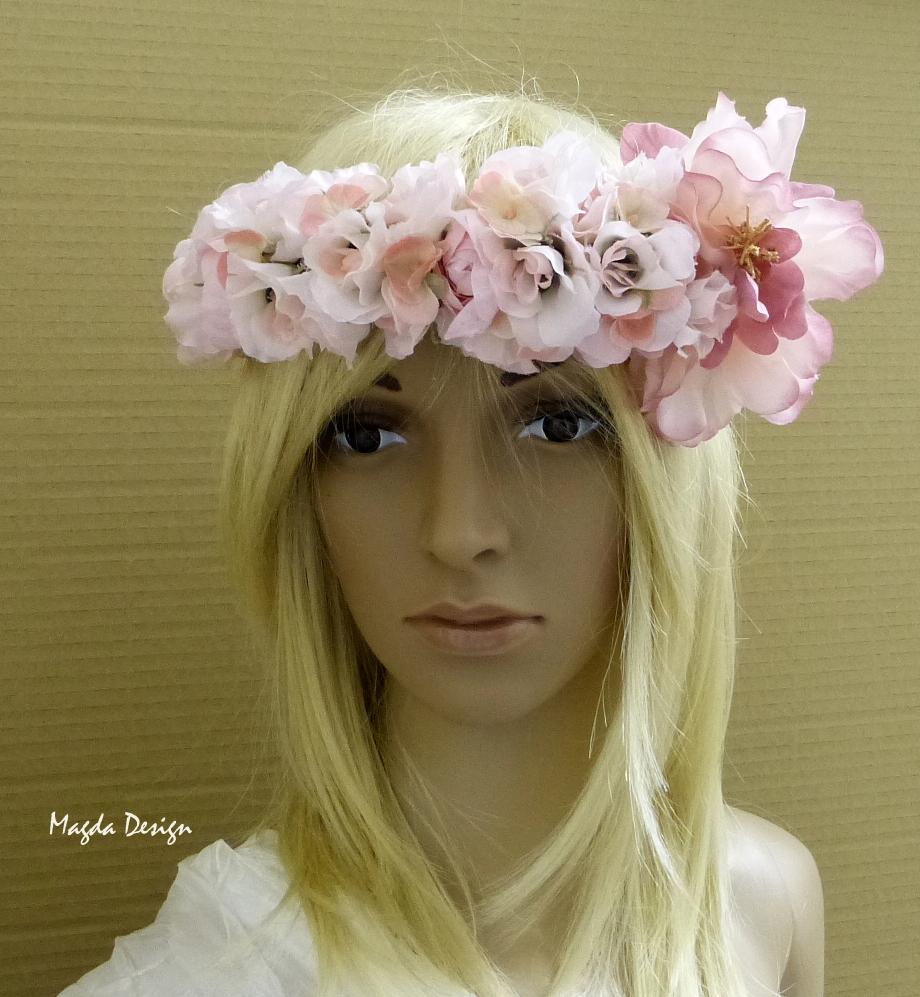 věneček do vlasů z květin