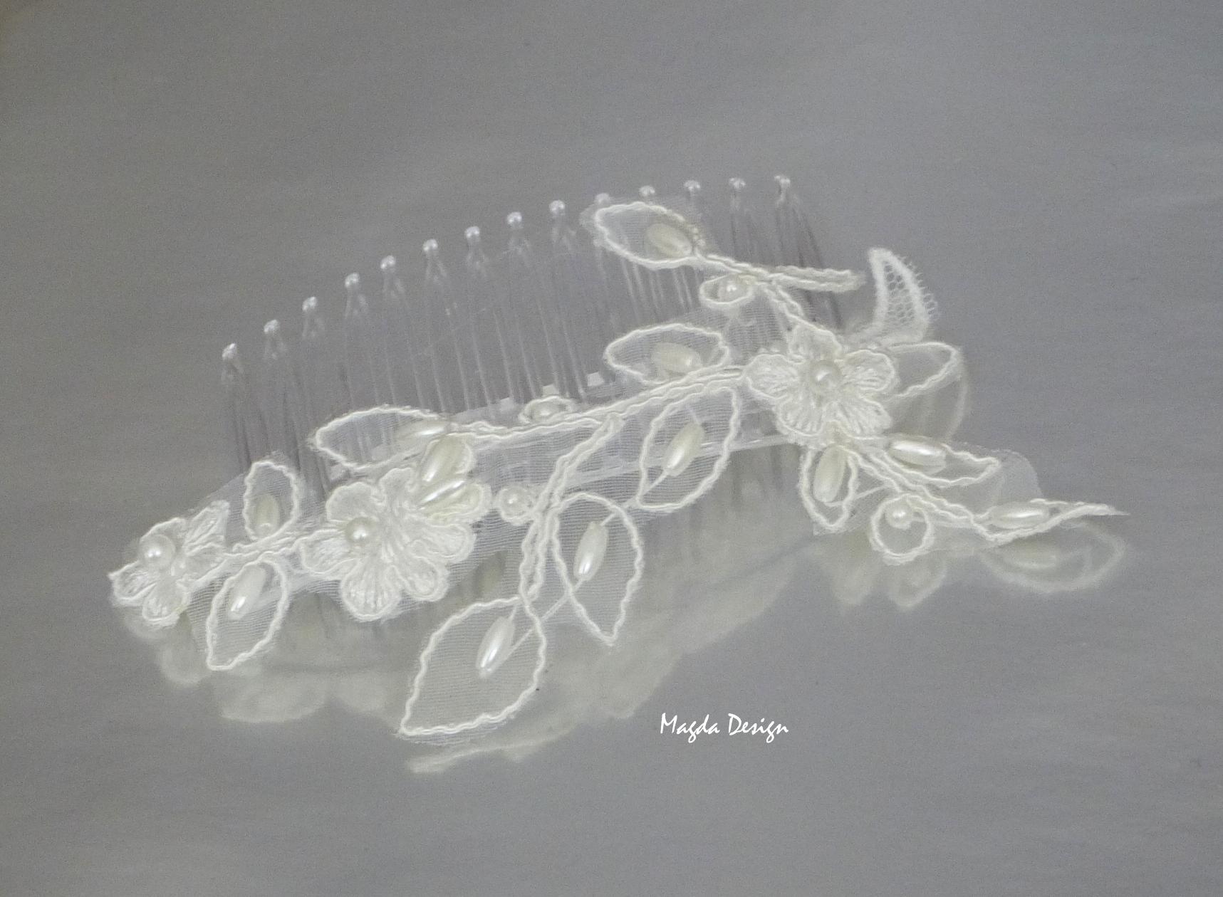Hřeben krajkový s perličkami 2 6ceca7ea88